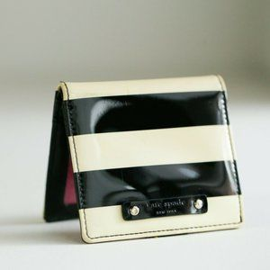 Kate Spade Classic Ivory Black Patent Wallet